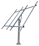 (TPSM-250x4-TP) Top of Pole Mount for Two or Four 250W Solar Panels