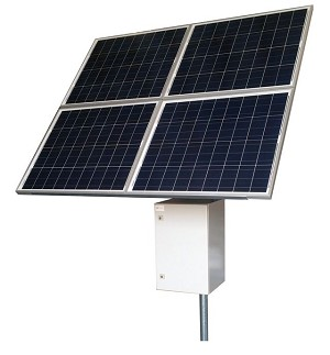 (RPST2424-100-320) 24V Battery, 24V PoE,  RemotePro™ 50W Continuous Solar Power System