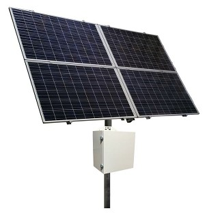 (RPSTL48M-100-1300) 48V Battery, 20A MPPT Controller.  RemotePro® 100W Continuous Solar Power System