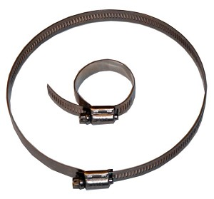 "(5700052) Hose Clamp - All Stainless - 2"" to 12"" Adjustment"